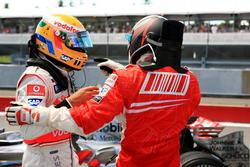 Lewis Hamilton, McLaren ve Kimi Raikkonen, Ferrari