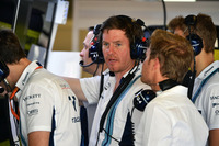 Rob Smedley, Williams Head of Vehicle Performance, Nico Rosberg, Mercedes-Benz Ambassador and Sergey Sirotkin, Williams