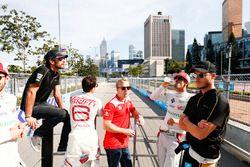 Jean-Eric Vergne, Techeetah, Jerome D'Ambrosio, Dragon Racing, Felix Rosenqvist, Mahindra Racing, L