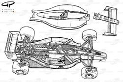 Ferrari F1-89 (640) 1989 exploded view