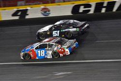 Kyle Busch, Joe Gibbs Racing, Toyota Camry M&M's Red White & Blue, B.J. McLeod, Rick Ware Racing, Chevrolet Camaro Prefund Capital