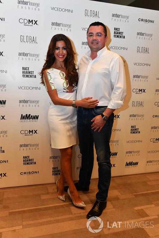 Eric Boullier, McLaren Racing Director and wife Tamara Boullier,