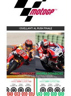 Resultado de Marc Márquez, Honda, y Andrea Dovizioso, Ducati