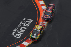 Chaz Mostert, Steven Owen, Rod Nash Racing Ford, Jamie Whincup, Paul Dumbrell, Triple Eight Race Engineering Holden