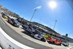 Johnny Sauter, GMS Racing, Chevrolet Silverado Allegiant Airlines and Todd Gilliland, Kyle Busch Mot