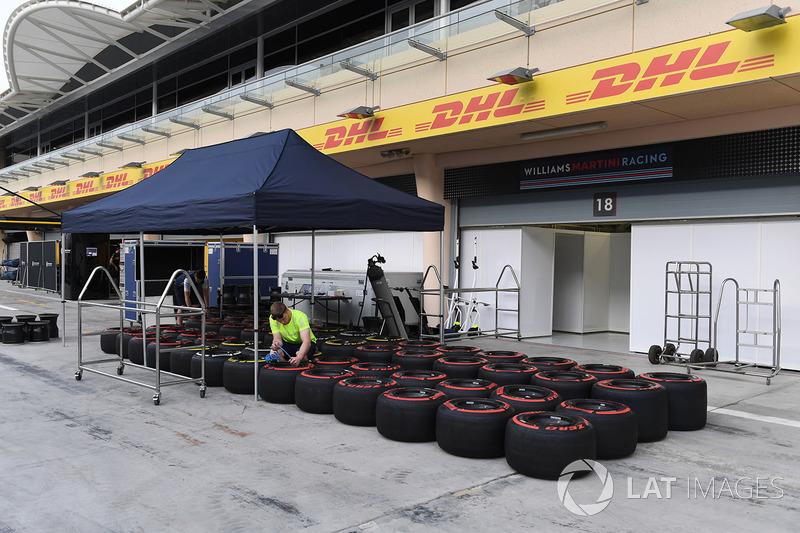 Tumpukan ban Pirelli