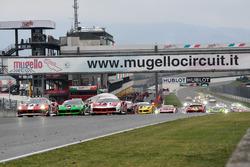 Start action Race 1, European Challenge