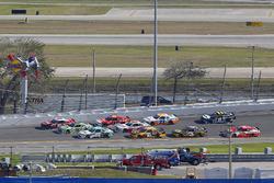 Brandon Brown, Brandonbilt Motorsports, CONO.io Chevrolet Camaro, Daniel Suarez, Joe Gibbs Racing, I
