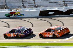 Denny Hamlin, Joe Gibbs Racing Toyota and Daniel Suarez, Joe Gibbs Racing Toyota