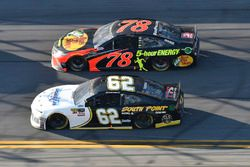 Brendan Gaughan, Beard Motorsports Chevrolet Camaro, Martin Truex Jr., Furniture Row Racing Toyota