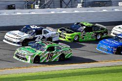 Daniel Suarez, Joe Gibbs Racing, Interstate Batteries Toyota Camry, Kyle Larson, Chip Ganassi Racing