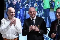 Владелец Orange1 Racing Армандо Донаццан, глава Lamborghini Squadra Corse Джорджо Санна и главный ре