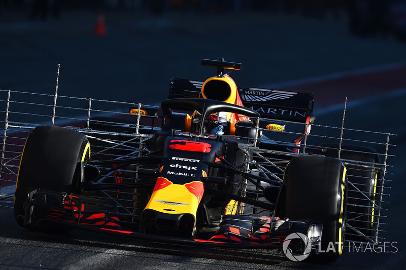 Daniel Ricciardo, Red Bull Racing RB14 avec des capteurs aéro