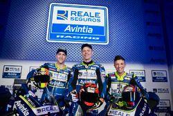 Гонщики Avintia Racing Тито Рабат и Ксавье Симеон, Ливио Луа, Avintia Racing Moto3