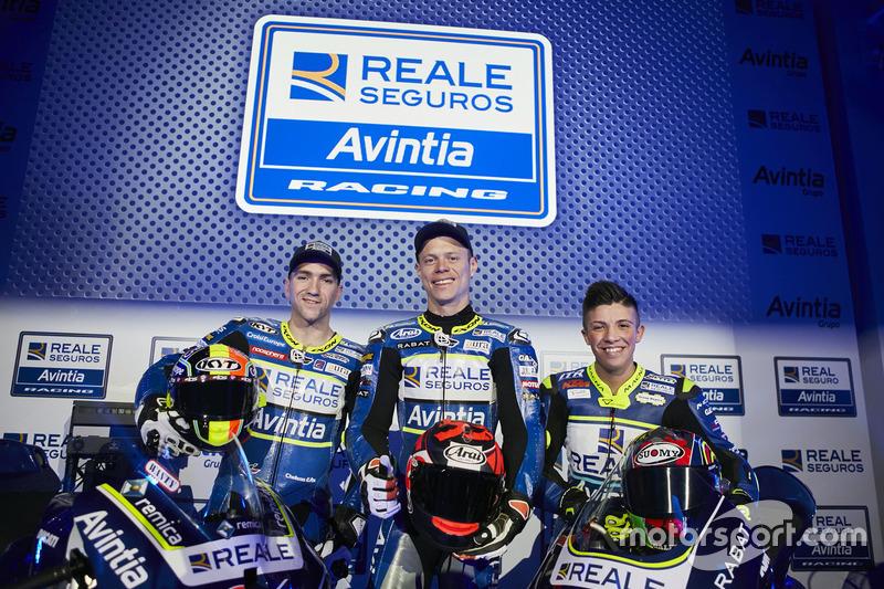 Tito Rabat, Xavier Siméon en Livio Loi, Avintia Racing