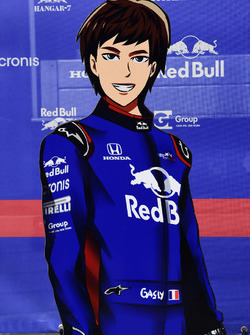 Pierre Gasly, Scuderia Toro Rosso cartoon cut outs
