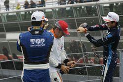 Podio TCR gara 1, Giacomo Altoè (Target Srl,Audi RS3 LMS TCR #10), Stefano Comini (Top Run Motorsport,Subaru STI TCR #99), Nicola Baldan (Pit Lane,Seat Leon TCR-TCR #8)