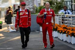Kimi Raikkonen, Ferrari with his trainer Mark Arnal