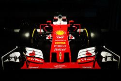 F1 Ferrari car in the night