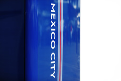 Mexico City branding in the Williams garage