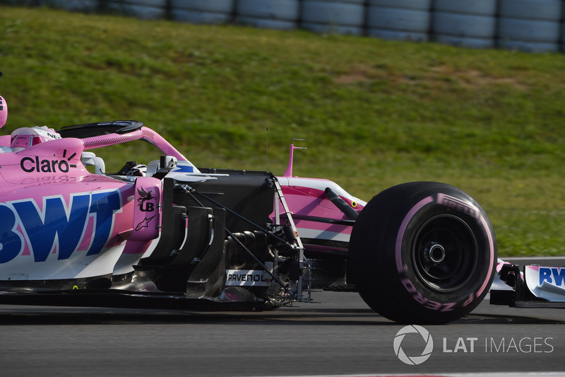 Nicholas Latifi, Force India VJM11 con sensores aerodinámicos