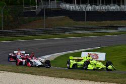 Simon Pagenaud, Team Penske Chevrolet, Marco Andretti, Herta - Andretti Autosport Honda