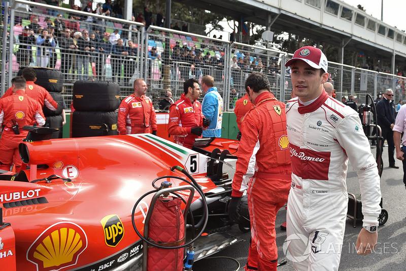 Charles Leclerc, Sauber, in griglia
