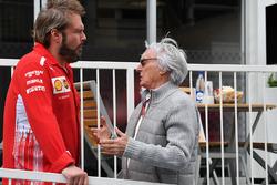 Bernie Ecclestone, y Gino Rosato, Ferrari