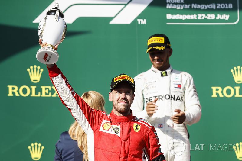 El segundo, Sebastian Vettel, Ferrari