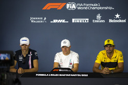 Esteban Ocon, Force India F1, Valtteri Bottas, Mercedes-AMG F1 and Carlos Sainz Jr., Renault Sport F1 Team R.S. 18 in the Press Conference