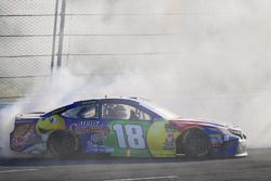 Kyle Busch, Joe Gibbs Racing, Toyota Camry M&M's Caramel celebra
