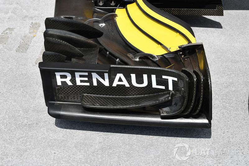 Renault Sport F1 Team R.S. 18, első szárny, részlet