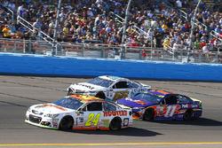Chase Elliott, Hendrick Motorsports Chevrolet, Denny Hamlin, Joe Gibbs Racing Toyota and David Starr, Motorsports Business Management, Eureka Toyota Camry