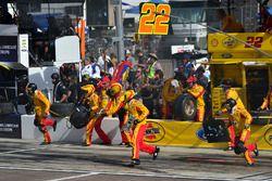 Joey Logano, Team Penske Ford effettua un pit stop, Sunoco