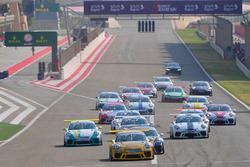 انطلاقة السباق، جولة البحرين الافتتاحية للموسم التاسع من بورشه جي تي 3 الشرق الأوسط