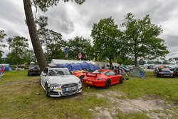 Camping area at Le Mans