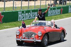 Daniel Ricciardo, Red Bull Racing, tijdens de rijdersparade