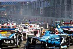 Nicolas Prost, Renault e.Dams, Sébastien Buemi, Renault e.Dams, Jose Maria Lopez, Dragon Racing, Daniel Abt, Audi Sport ABT Schaeffler