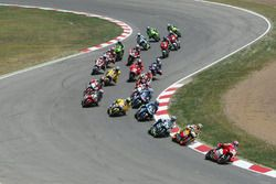 Loris Capirossi, Ducati Team, leads