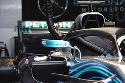 Mercedes AMG F1 W09 detalle del espejo