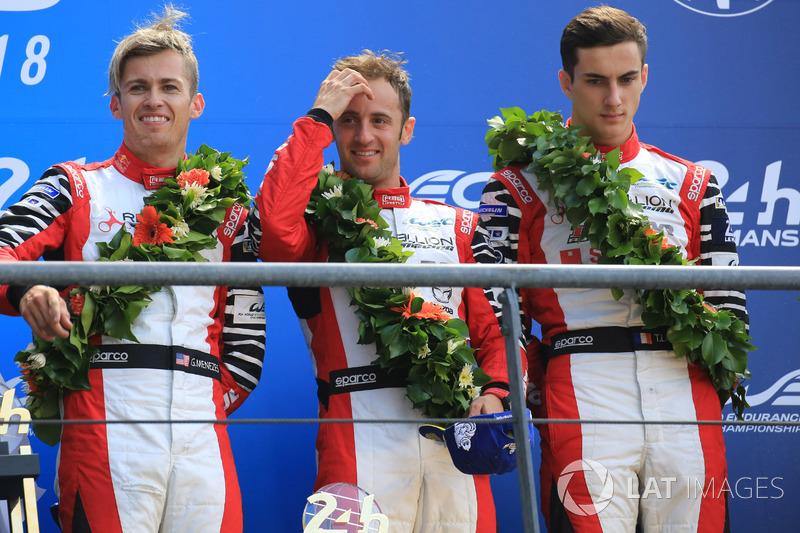 С Toyota бороться было невозможно – так что занявшие третье место Матиас Беш, Густаво Менезес и Тома Лоран из Rebellion Racing могут смело считать себя победителями