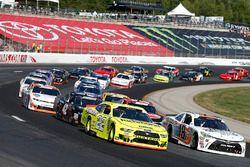 Ryan Preece, Joe Gibbs Racing, Toyota Camry Falmouth Ready Mix Brad Keselowski, Team Penske, Ford Mustang Menards/Richmond