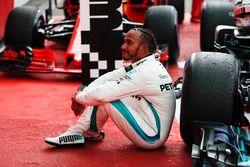 Lewis Hamilton, Mercedes AMG F1, en parc ferme