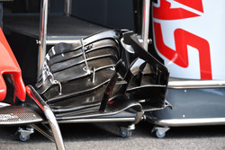 Haas F1 Team VF-18 front wing detail