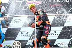 Podium: race winner Miguel Oliveira, Red Bull KTM Ajo Moto2