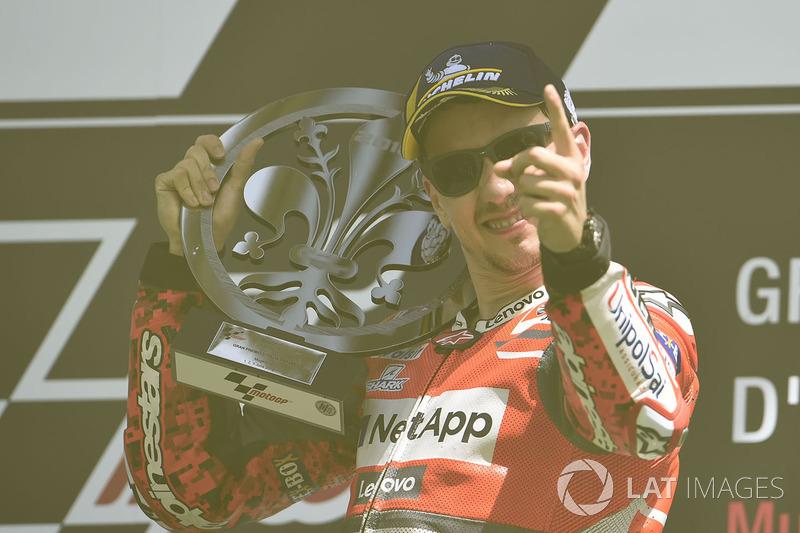 Подіум: переможець гонки Хорхе Лоренсо, Ducati Team