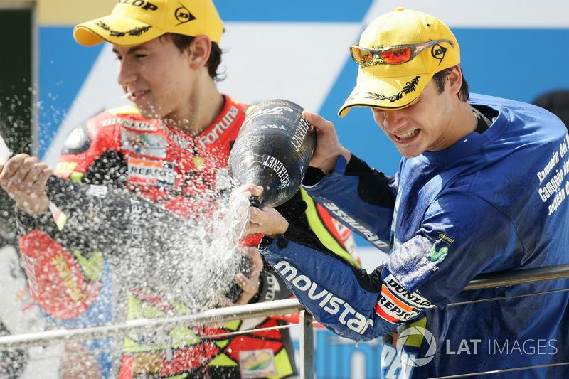 2005: 250cc (Moto2), 5º - Jorge Lorenzo - Fortuna Honda; Dani Pedrosa