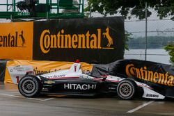 L'accident de Josef Newgarden, Team Penske Chevrolet