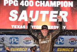 Johnny Sauter, GMS Racing, Chevrolet Silverado ISM Connect celebrates his win