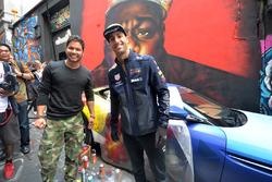 Daniel Ricciardo, Red Bull Racing with Street Artist Julian Clavijo